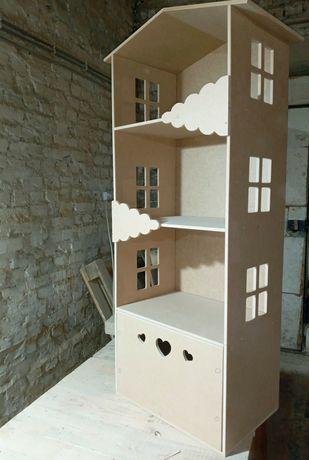 Деревянный домик,  подставка(шкаф) для игрушек, книг и другого.