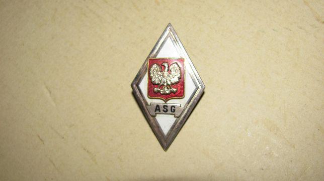 Odznaka Akademii Sztabu Generalnego wz.53, patyna, rzadka