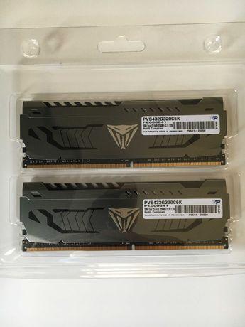 Pamięć Patriot Viper Steel, DDR4, 32 GB, 3200MHz, CL16 (PVS432G320C6K)