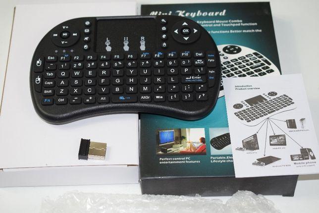 Mini klawiaturka TV Box, TV, PC, bezprzewodowa, trackpad