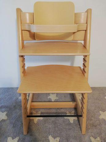 Krzesełko WhiteWash Tripp Trapp Stokke z barierką i oparciem