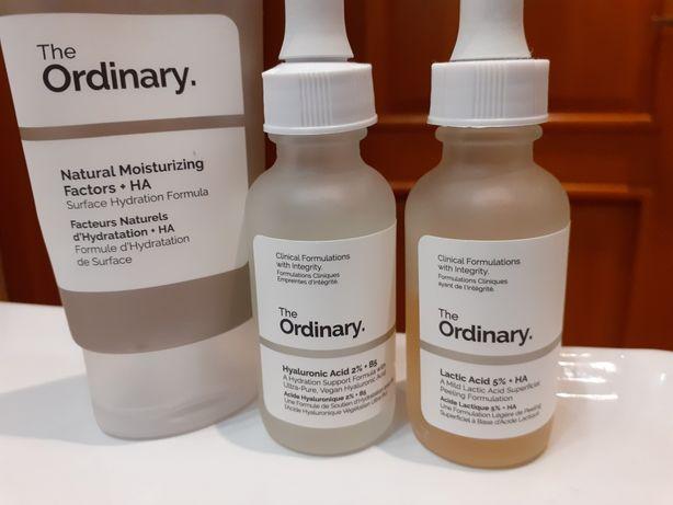 The Oridynary zestaw: krem, peeling 5%, serum z kwasem hialuronowym 2%