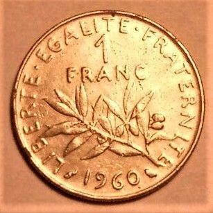 1 франк (Франция) 1960 / 1 franc (France) 1960