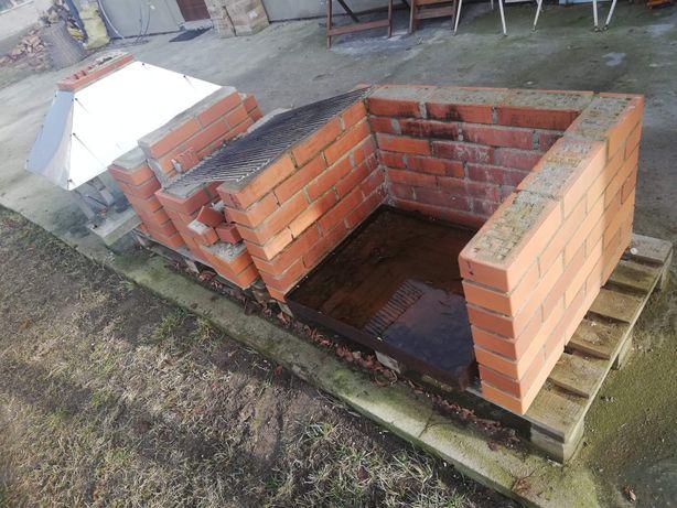 Oddam grill z cegły klinkierowej z demontażu
