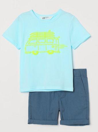 Костюм H&M мальчик летний шорты и футболка р.128 ( 7-8 лет)