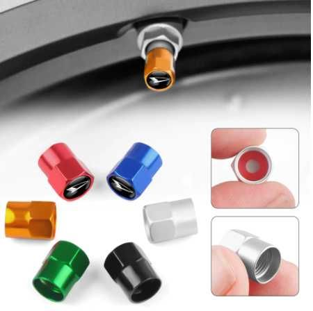 Tampas para válvulas dos pneus