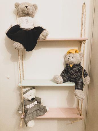 Drewniana półka DIY handmade na wymiar na zamowienie