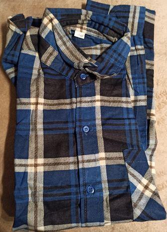 Spodnie ogrodniczki koszula flanelowa