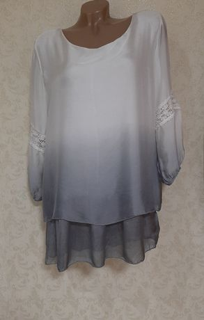 Новая блузка кофта натуральный шёлк пр.Италия р.50-52