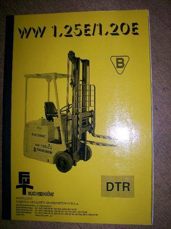 Instrukcja obsługi DTR wózka widłowego WW 1,25E Suchedniów, 60 stron