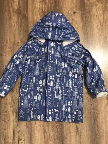 Куртка-плащ дождевик 5-6 лет, непромокаемые и непродуваема