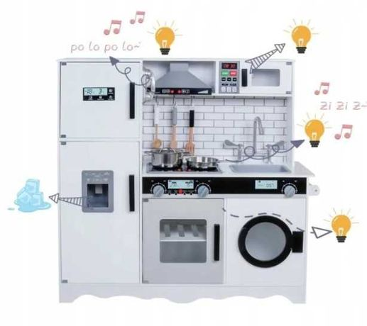 Большая интерактивная Детская Кухня 95 см + аксессуары (свет, звук)