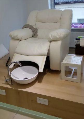 Кресло кушетка реклайнер педикюрное, косметологическое Онтарио. Крісло