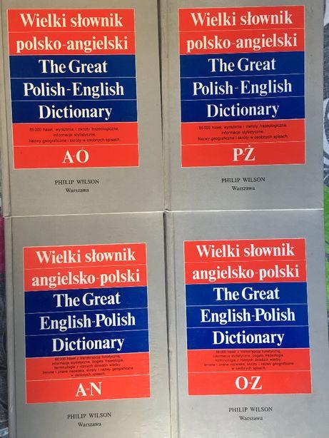 Wielki słownik polsko-angielski,angielsko-polski 4 tomy P Wilson