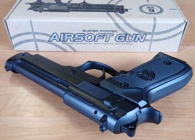 Страйкбольный пистолет BERETTA M9 металл + пули в подарок, страйкбол