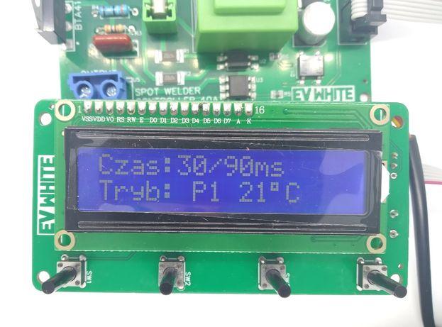Sterownik zgrzewarki punktowej LCD 40A POLSKI FAKTURA FV