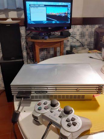 PS2 fat silver + jogos