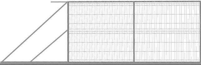 ART.STAL Brama panelowa przesuwna, ocynkowana 1,5x4mb