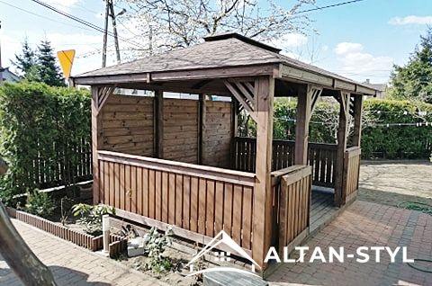 Altany, altanki, wiaty, altanka ogrodowa SARA 3x3m PRODUCENT