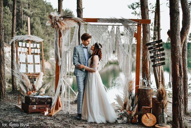 Dekoracje BOHO i kwiaty na ślub cywilny, plenerowy, sesję, wesele