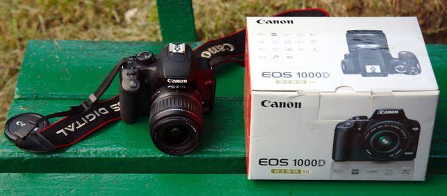 Lustranka cyfrowa Canon EOS 1000D z obiektywem EF-S 18-55mm