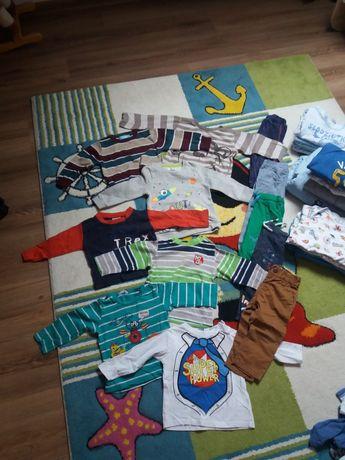 komplet paka zestaw ubrań 80 spodnie bluzy body hm smyk ff 51015 takko