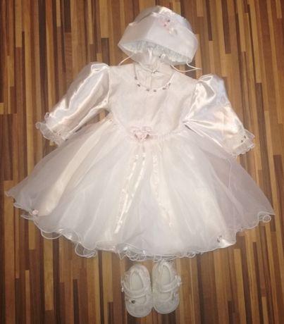 Najtaniej komplecik, ubranko do chrztu dla dziewczynki