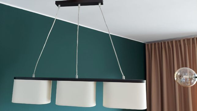 Lampa salon/jadalnia 3 klosze ecru/2 szt.