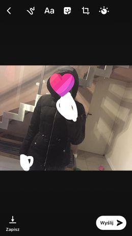 Czarna kurtka zimowa (s) damska ,nowa z h&m z kapturem