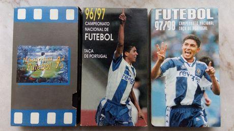 Cassetes vídeo sobre o campeonato nacional de futebol