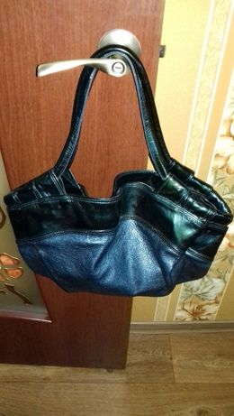 Кожаная сумка супер стильная