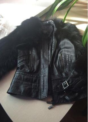 Продам свою классную натуральную кожаную куртку с мехом козы Харьков - изображение 1