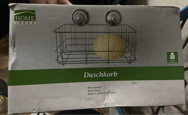 Німецький тримач мочалки в ванну на присосках