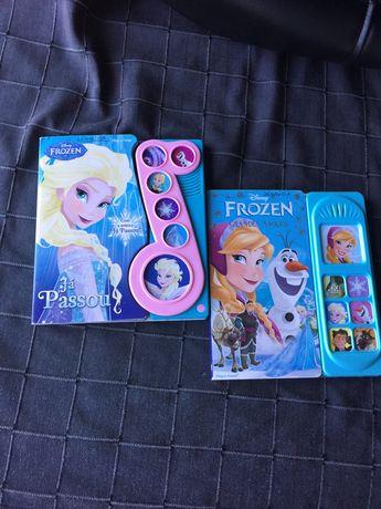 2 livros interativos da Frozen
