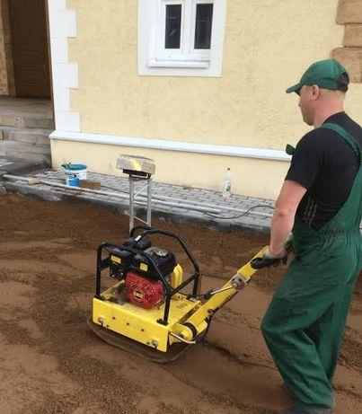 Подготовка участка под рулонный и посевной газон. Самая низкая цена