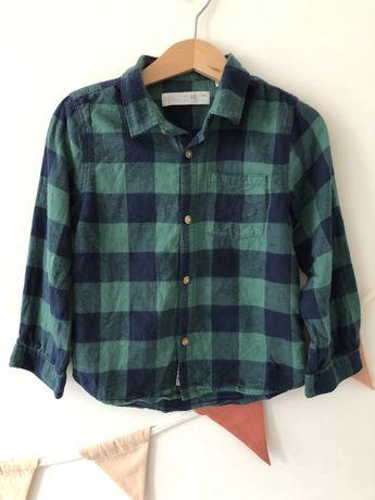 Flanelowa koszula w kratę firmy Zara 3-4 lata 104