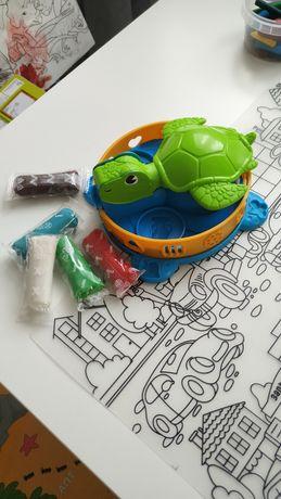 Play-doh черепаха, оригинал. В подарок тесто (аналог)