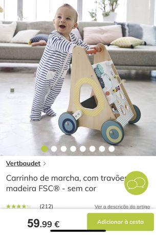 Carrinho / andarilho de empurrar para bebes
