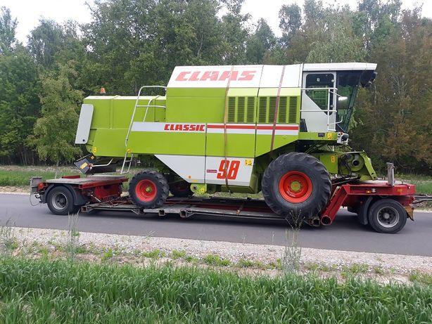 Pomoc drogowa transport kombajnów wózków maszyn laweta traktorów lkt