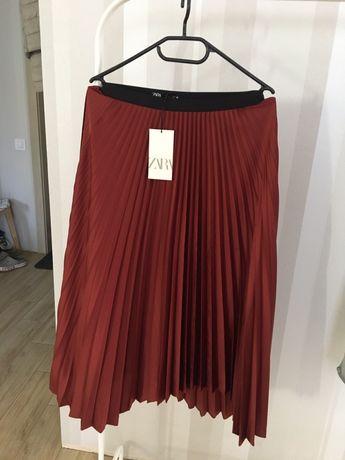 Новая юбка плиссе Zara р.S плисерованная