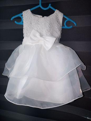 Baihui sukienka księżniczka M 12 18 m ślub chrzest komunia wesele