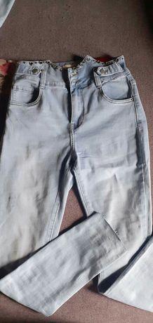 Spodnie wysoki stan s/m
