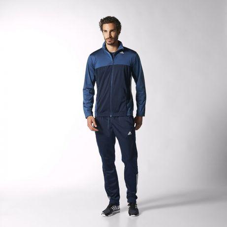 Adidas cały dres meski niebieski mega hit -50% M-XXL ostatnie 2 sztuk