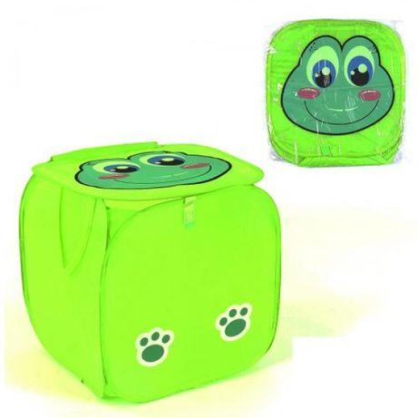 Корзина для игрушек корзинка короб сетка для хранения лягушонок 45*46с