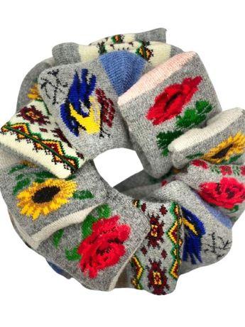Жіночі зимові шерстяні в'язані шкарпетки(носки) оптом