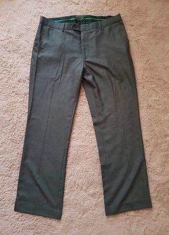 Męskie spodnie wizytowe garniturowe 34