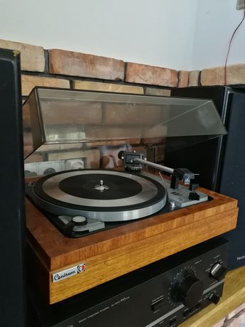 Gramofon Dual 1019 drewniana zabudowa, Shure M75
