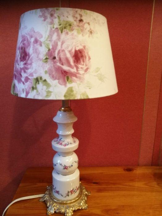 "Lampa ""Róże"" ,nocna,na biurko,komodę,do sypialni Gniezno - image 1"
