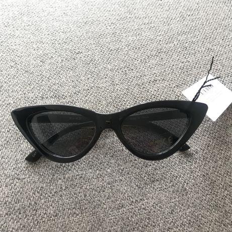 Okulary kocie cat eye czarne na-kd