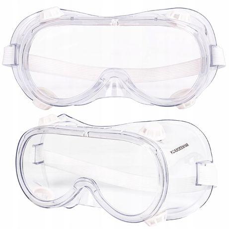 Gogle okulary ochronne bhp robocze wentylacja (AKC257)
